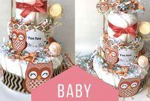 Diaper cakes / Luiertaart / Luiertaarten met liefde en veel creativiteit gemaakt