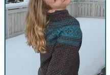 Setesdal design, Norwegian knitting pattern / Handmade by Guri Ø.Halvorsen