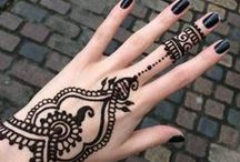 Tattoos & Henna / If I ever got a tattoo this is where I would draw my inspiration from. Also Henna is a beautiful art that I wish I could get more of