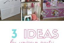 Unicorn feestje voor kleine meisjes / Maak er een gezellige middag van. Doe kleine workshop met de meiden en hou ze lekker bezig. Bestel een coole taart en heb bedankjes klaar staan. www.thediapercakefactory.nl