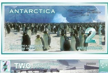 Penguins On Bank Notes / Banknotes (paper money) featuring penguins