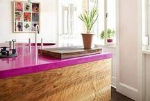 Kitchen- Colorful Kitchen // Színes konyhák
