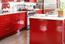 Kitchen- Red Kitchen // Piros konyhák