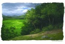 digital painting / #aniaprzybylko #landscape #digitalpainting #painting #photoshop #digitalart #scenery #background