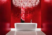 Red Bathrooms / Czerwone Łazienki