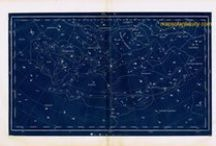 Celestial Maps- Maps of the Stars, Moon, Sun, Planets, and Constellations / Among the earliest maps were those of the stars, embedded with mystery and mythology. Celestial maps were inspired by people studying the patterns in the night sky long before traveling to far off places and understanding geographic locations.