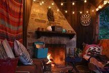 Inside cottages