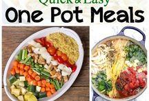 One pot recipes / One pot meals