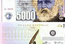 Mujand Banknotes / Banknotes from the Fictional Republic of Mujand