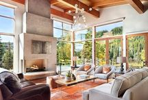 Gathering Places / inviting living rooms and family rooms
