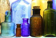 Bottles / Beautiful glass bottles