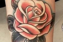 Tattoo & red black and white