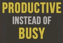 The productivity curve / Everyone is busy, but do you ever feel like you've been busy all day but have accomplished nothing?
