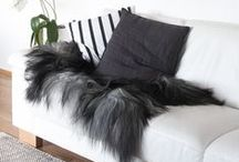 Sheepskin Decor Ideas / Ideas for decorating your home with sheepskin. Shop our collection of naturally-tanned skins at http://vtsheepskins.com