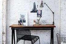 Creative // Office Space / Inspiring work spaces. A beautiful, well organised office can make such a difference to the quality of work you create.