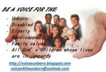 Voices for the Unborn / Voices for the Unborn is a group dedicated to informing and educating the public on pro-life and pro-family issues. http://voicesunborn.blogspot.com/