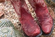 Red Cowgirl Boots / Fiery red boots are all the rage