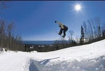 Hitting the Slopes / Skiing or snowboarding with friends and family on Lutsen Mountain.  / by Caribou Highlands Lodge on Lutsen Moutains
