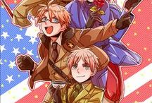 Hetalia / Anime, Hetalia, America, England, France, Russia, China, Italy, Germany, Japan