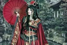 From the far East... / Fashion designs inspired by Asia. Accessories and fabrics.