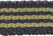 Maine Mexicali / Our unique Maine Mexicali mats combine basic black with more festive colored  stripes in different predominant colors. They offer a new twist on our solid black mat and are sure to please those with more conservative taste, but who enjoy a bit of fun in their lives.  No two Mexicali colors are alike.