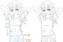 Fashion design sketches / Fashion illustrations, tutorials