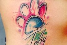 Dog Tattoos / Cute tattoo ideas to remind you of your dog.