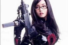 Guns and Gals / This is a collection of attractive women with weapons. You will find cospaly outfits for Laura Croft, baroness and more. You will also find women in bikinis lingerie and other sexy clothing all posing with handguns, pistols or rifles.