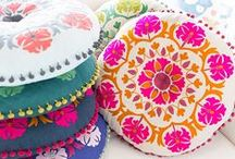 FABRICS for home / pillows, blankets, carpets, towels... fabric styles for the home