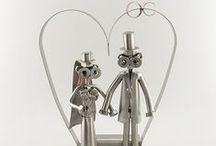 Cadeau Bruiloft / Trouwerij / Huwelijkscadeau / wedding gift / Metalen beeldjes, ideaal om weg te geven bij een trouwerij of een jubileum. Maar ook leuk om de fotograaf of ceremoniemeester een aandenken van jullie trouwerij te geven.