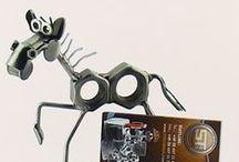 Dieren Beeldjes / Animal Figurines / Dieren beeldjes gemaakt van schroeven, moeren en bouten / Animal figurines made of screws, nuts and bolts.
