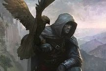 RPG Druid and Ranger character art / A board with art of various wilderness, druid, and archer types, mainly for inspiration for characters and NPCs in roleplaying games. Fantasy genre. Please see my other boards for different character types.
