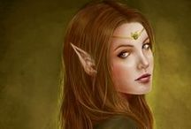 RPG Elf art / Uncategorized elf or half-elf art for character inspiration in roleplaying games. Fantasy genre. . Please see my other boards for different and more specific character types.