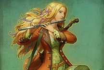 RPG Bard and Minstrel character art / A board with art of bards, minstrels and other merry folk, mainly for inspiration for characters and NPCs in roleplaying games. Fantasy genre. Please see my other boards for different character types.
