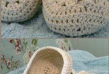 papuci tricotati