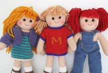Knit a friend / Knitted dolls/ animals and cuddly toys