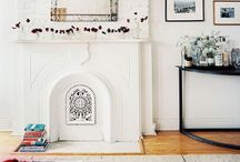 Fireplace / Our home must have a fireplace! I would love one in the living area, maybe one outdoors  & maybe even one in the kitchen. I love old Victorian fireplaces or old brick ones painted white with rustic mantelpieces