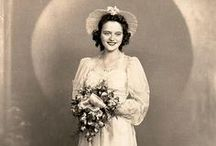 Beautiful Vintage Brides / Looking for a little historical inspiration for your wedding dress? Look no further than these beautiful vintage brides...