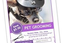 Groomers Advertising Templates & Ideas / Do-it-yourself marketing templates for dog grooming salons. Editable groomer templates available at:  www.petgroomingmarketingkit.com. Plus pins of inspirational groomer advertising ideas from around the web.