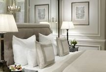 Bedrooms / Plump pillows, luxurious soft linens and serene color ideas. Many ideas for headboards, furniture and room architecture too. / by Cindy Asdel