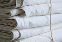 L.I.N.E.N / We love love love linen, But it must be 100% pure stonewashed linen from France, At the Foxes Den we sell the Atlas Linen Brand - Oh its Bliss!