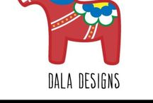 Dala Designs / Original Dala Designs papercuts by Ashley Laird. Cut from a piece of paper using a scalpel.