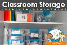 CLASSROOM STORAGE / Classroom storage tips for your preschool, pre-k, or kindergarten classroom. Creative ideas for storing your supplies, center materials and more! Visit me at www.pre-kpages.com for more inspiration for early education! / by Vanessa @pre-kpages.com
