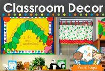 Classroom Decor / Decorating ideas for your preschool, pre-k, or kindergarten classroom. Pictures and ideas to help teachers decorate including DIY projects, classroom doors, bulletin boards and more! Visit me at www.pre-kpages.com for more inspiration for early education! / by Vanessa @pre-kpages.com