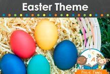 EASTER THEME / Easter and Spring theme learning activities, crafts, ideas, printables and resources for young children in your preschool, pre-k, or kindergarten classroom. Chicks, bunnies, ducklings, eggs and more! Visit me at www.pre-kpages.com for more inspiration for early education! / by Vanessa @pre-kpages.com