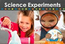 SCIENCE EXPERIMENTS / Science ideas and experiments for preschool, pre-k, or kindergarten classrooms. Fun, hands-on science experiments for kids! Visit me at www.pre-kpages.com for more inspiration for early education! / by Vanessa @pre-kpages.com