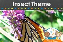 INSECT THEME / Insect and bug theme learning activities, crafts, ideas, printables and resources for young children in your preschool, pre-k, or kindergarten classroom. Ladybugs, butterflies, caterpillars, bees and more! Visit me at www.pre-kpages.com for more inspiration for early education! / by Vanessa @pre-kpages.com