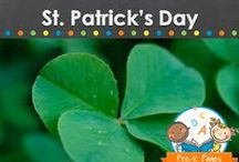 ST. PATRICK'S DAY THEME / St. Patrick's Day teaching and learning activities, crafts, ideas, printables and resources for young children in your preschool, pre-k, or kindergarten classroom. Shamrocks, leprechauns, rainbows, snacks, party ideas and more! Visit me at www.pre-kpages.com for more inspiration for early education! / by Vanessa @pre-kpages.com