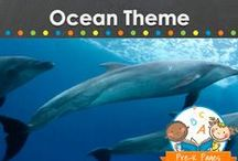 OCEAN THEME / Ocean theme teaching and learning activities, crafts, ideas, printables and resources for young children in your preschool, pre-k, or kindergarten classroom. Sharks, whales, fish, dolphins, starfish, turtles and more! Visit me at www.pre-kpages.com for more inspiration for early education! / by Vanessa @pre-kpages.com
