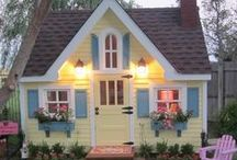 Cute~Cottages~Homes~Sheds / I do not own any of these pins, please pin as many as you like. Happy Pinning  / by Tamera Sarkozi